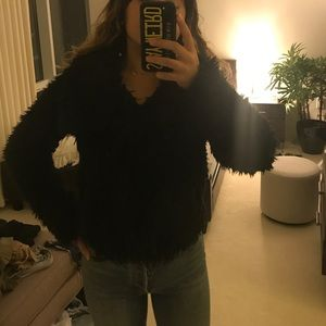 Zara Black Teddy Coat